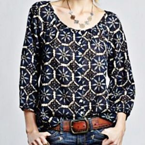 NWOT JOHN ROBSHAW FOR LUCKY PEASANT TOP